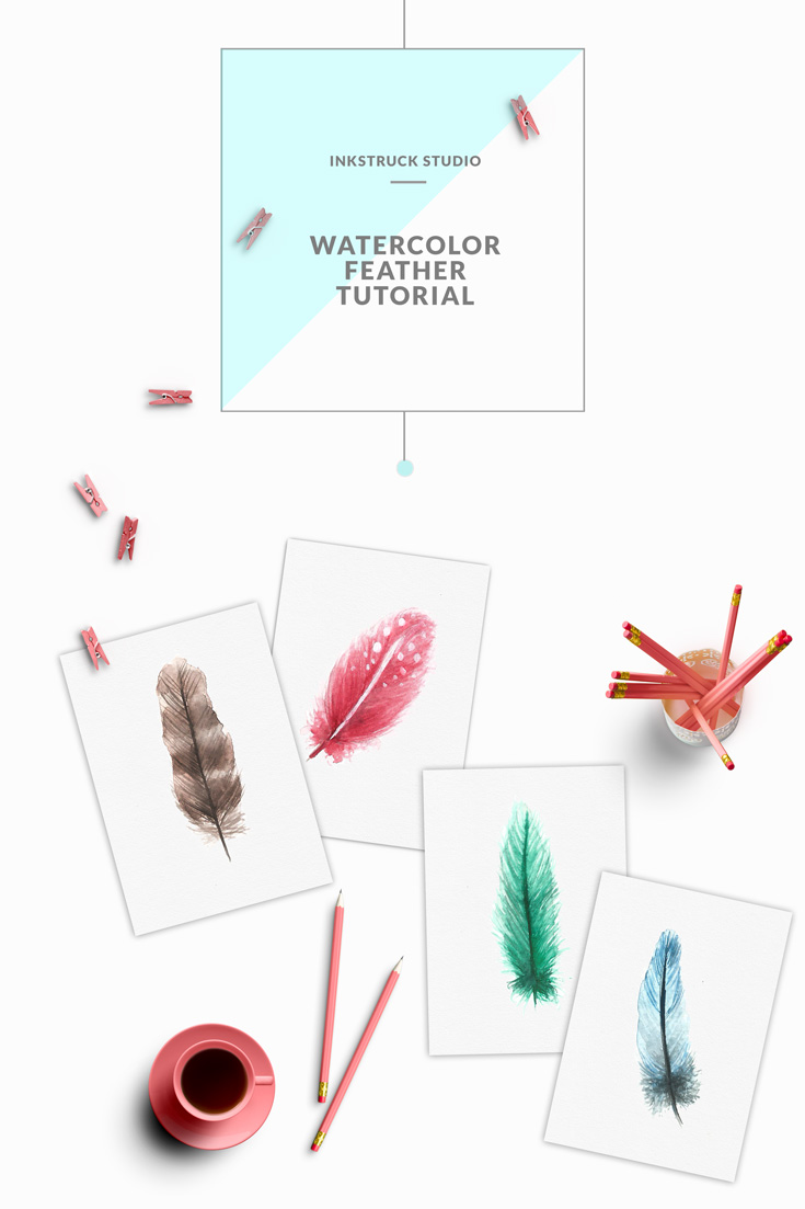 WATERCOLOR FEATHER TUTORIAL