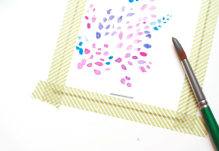 Learn how to create abstract art in this leaf pattern watercolor tutorial by Zakkiya Hamza of inkstruck Studio