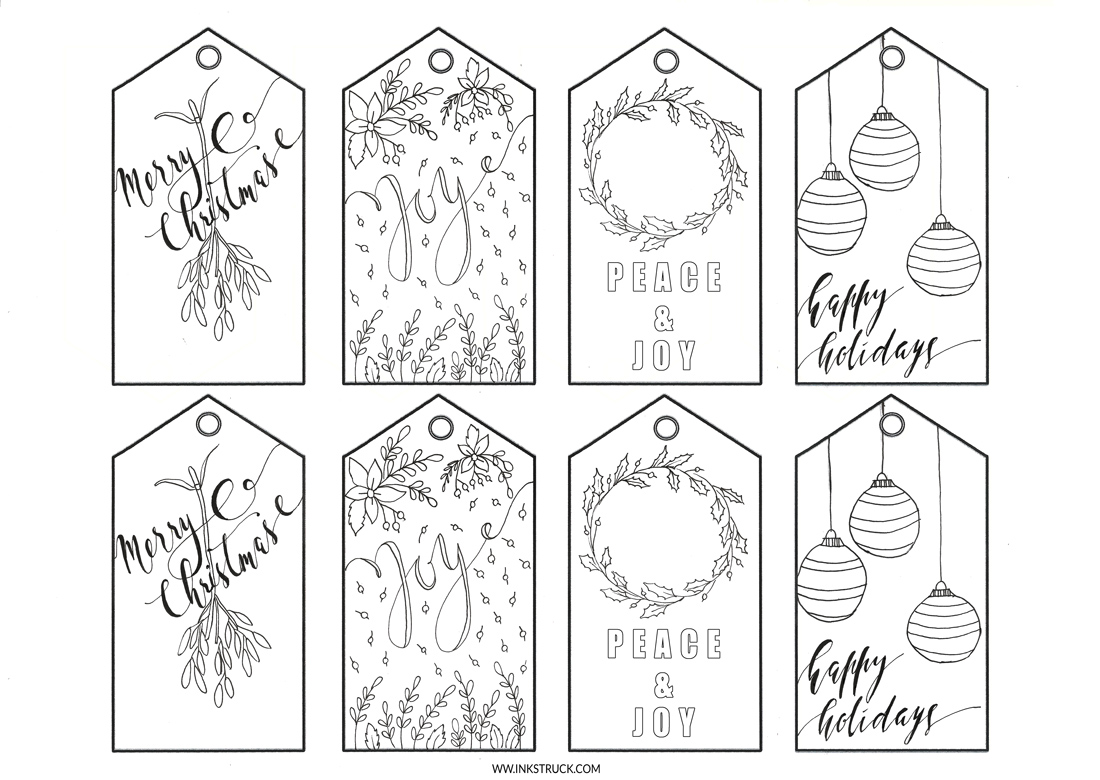Name Tag Coloring Pages Make Your Own Christmas