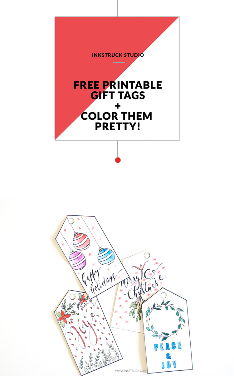 Printable christmas gift tags inkstruck studio download free printable christmas gift tags that you can color by zakkiya hamza of inkstruck studio negle Images