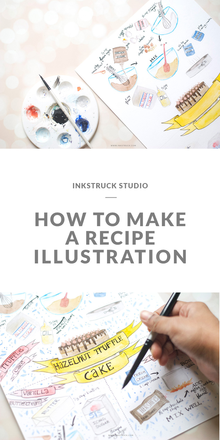 Learn how to make a recipe illustration in today's tutorial blog post by Zakkiya Hamza of Inkstruck Studio.