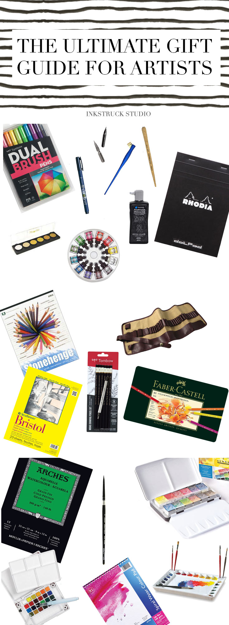 Creative gift ideasfor artists!Confused about what to buy for your fellow creative?This gift guide for artists will make it much easier for you to choose what's best for your creative friend,spouse or sibling.Enjoy!