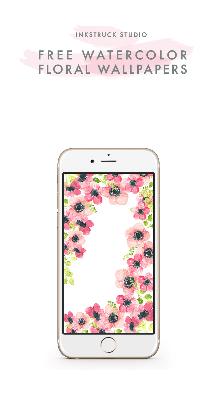 Watercolor Floral Wallpapers Inkstruck Studio