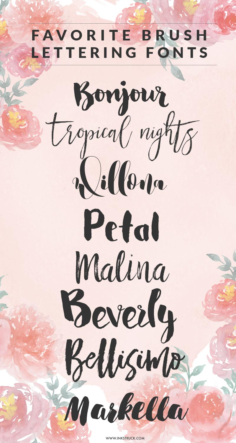 Favorite Brush Lettering Fonts