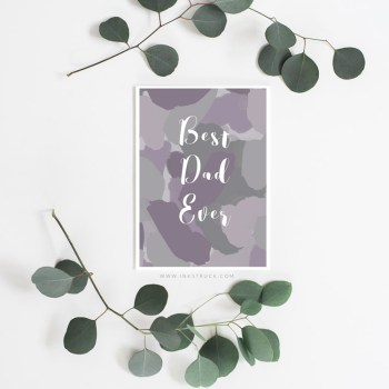 Free father's day printable card | Inkstruck Studio