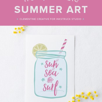 Add a touch of summer to your home with this free printable summer art!