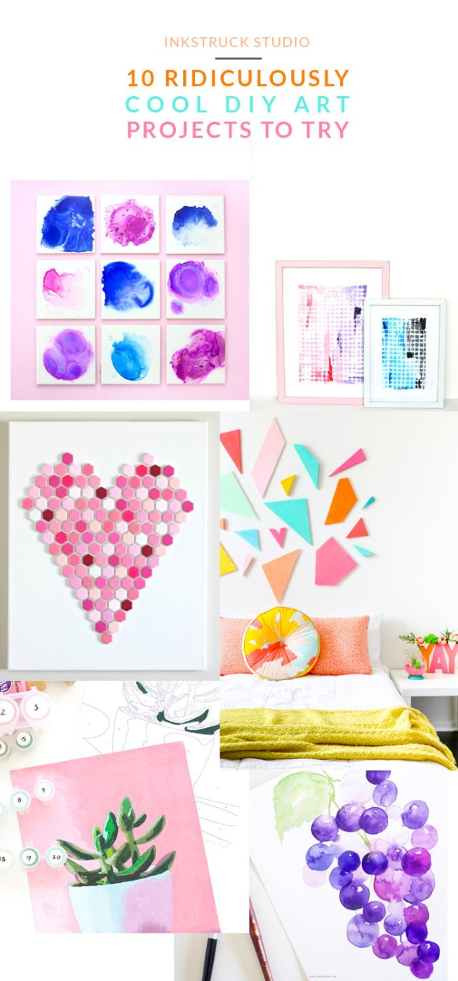 DIY art ideas - A roundup | Inkstruck Studio