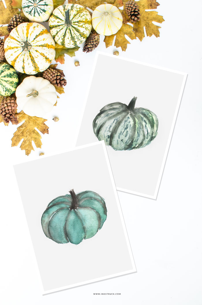 Watercolor pumpkin tutorial | Inkstruck Studio