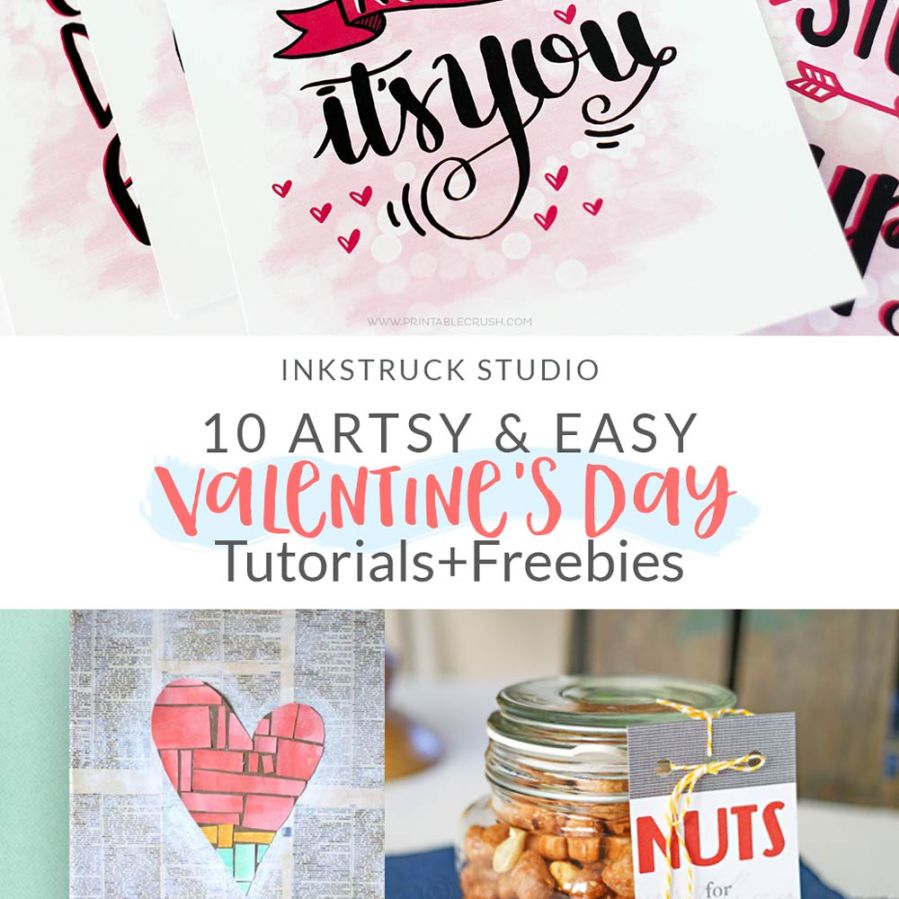 Love doing artsy stuff for V-Day? Look no further because I have you covered with these fab Valentines Day art ideas that I'm sure you'll love - Inkstruck Stduio