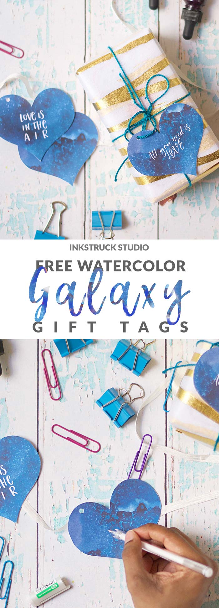 The universe is stunningly beautiful and so are these! Download free watercolor galaxy gift tags.Click to see how. - Inkstruck Studio