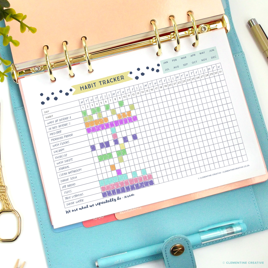 free printable habit tracker