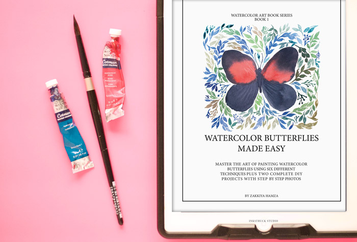Watercolor butterflies made easy e-book - Inkstruck Studio