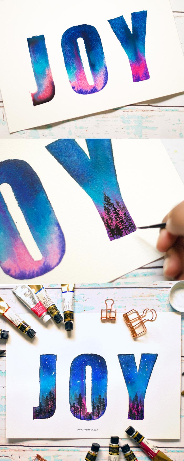 Learn to create a beautiful letters by following my northern lights watercolor typography tutorial from this post. Click to read more- Inkstruck Studio
