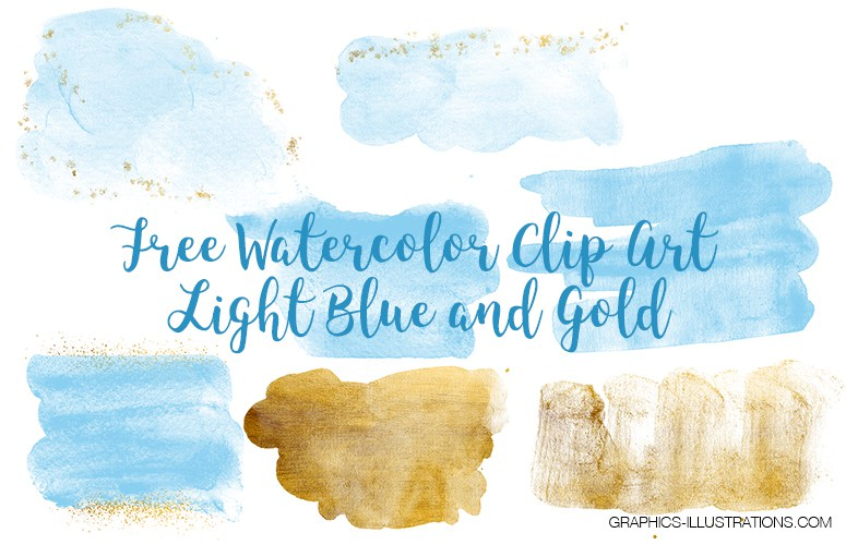 watercolor Blue and gold textures