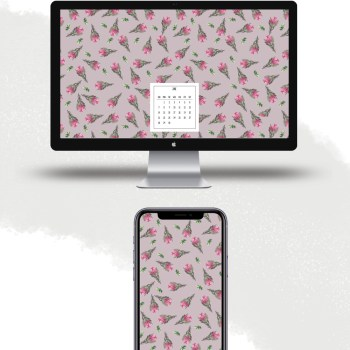 Download free June 2020 watercolor wallpapers for desktops and mobiles.