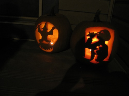 Confession: Robin carved the witch. Good job, too!