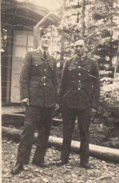 RCAF Corporal Don S. and friend, Rupert BC.