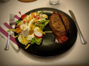 Meatloaf and salad!