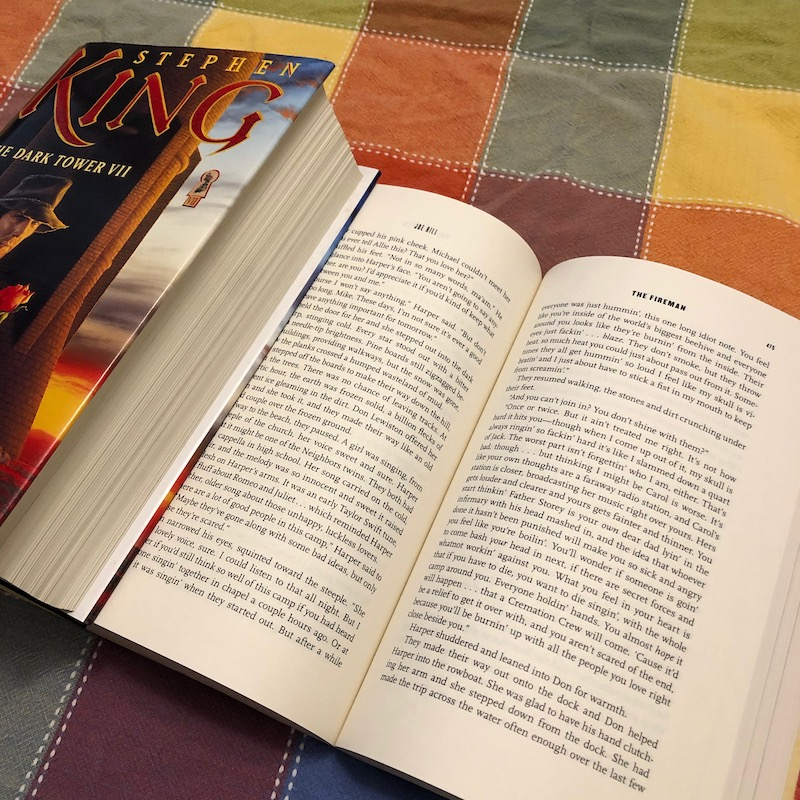 Using a book as a bookmark