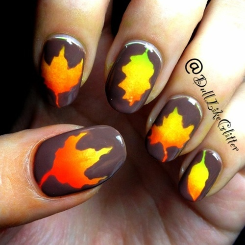 12 Easy Nail Art Designs For Autumn 1