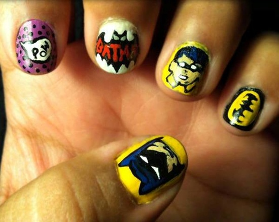 Bat Man Nail Art 31