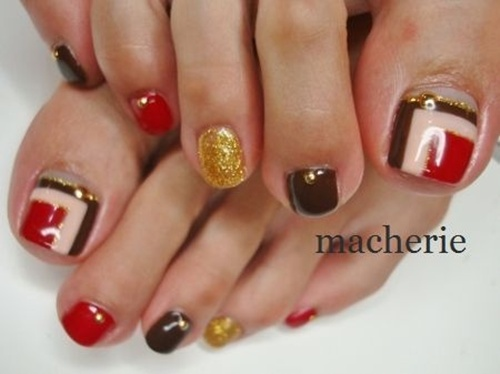 A Cute Looking Flower Inspired Toenail Art Design The Makes Use Of White
