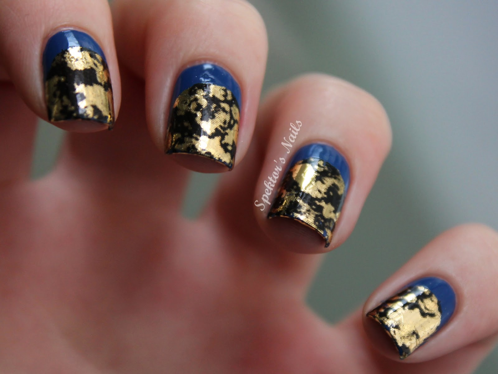 Blue Golden Ruffian Nails Foil B