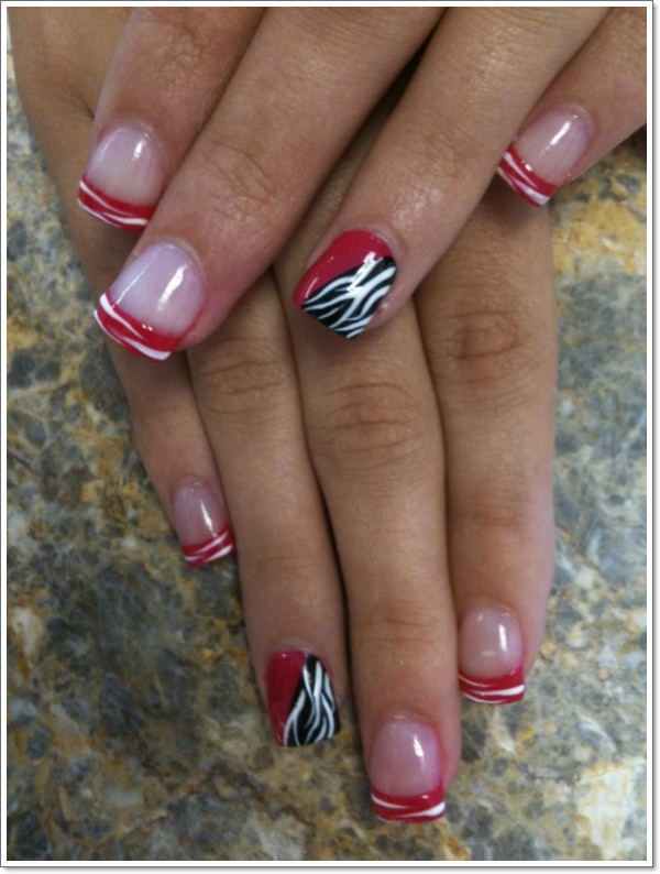 Cute Zebra Nail Art 5