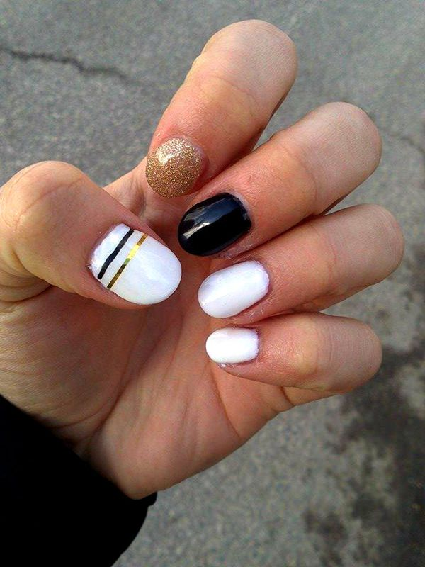 Black And White Nail Designs 30