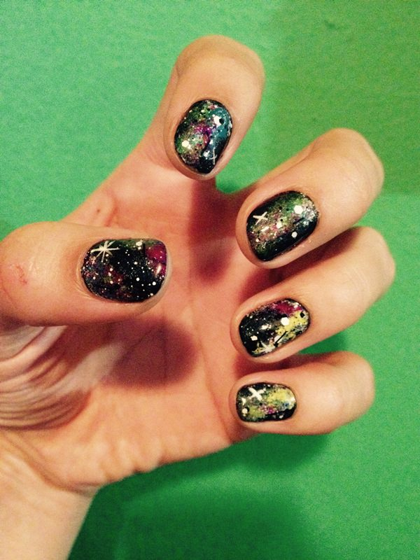 Far Away Pion Galaxy Nail Art