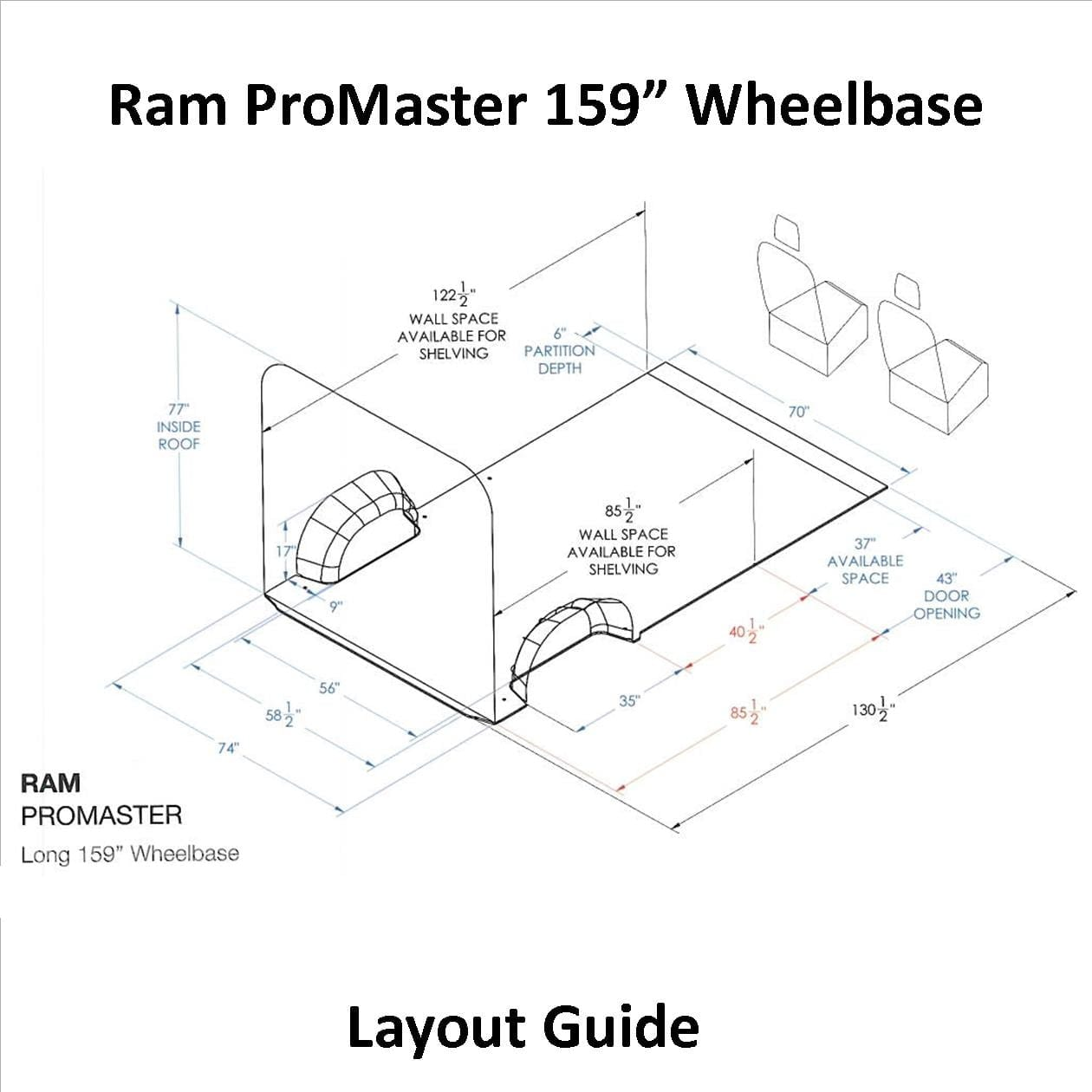 Ram Promaster Layout Guide 159 Wb