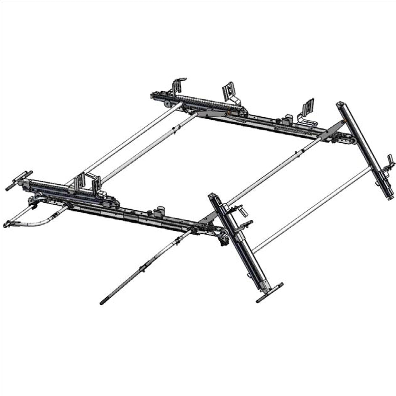 Adrian Steel Double Drop Down Ladder Rack For Ford Transit