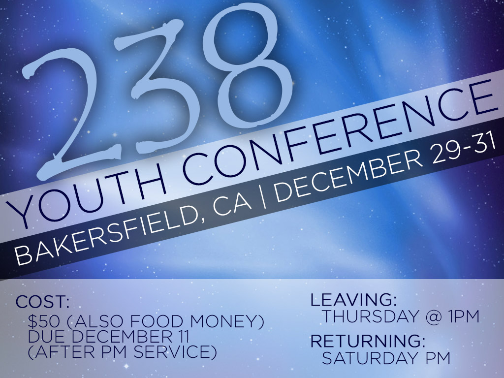 December 29-31 | Youth 238 Conference