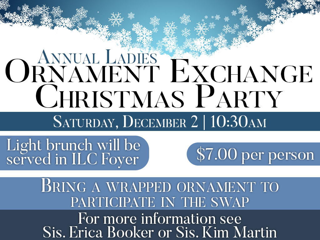 December 2, 2017 | Ladies Ornament Exchange Christmas Party