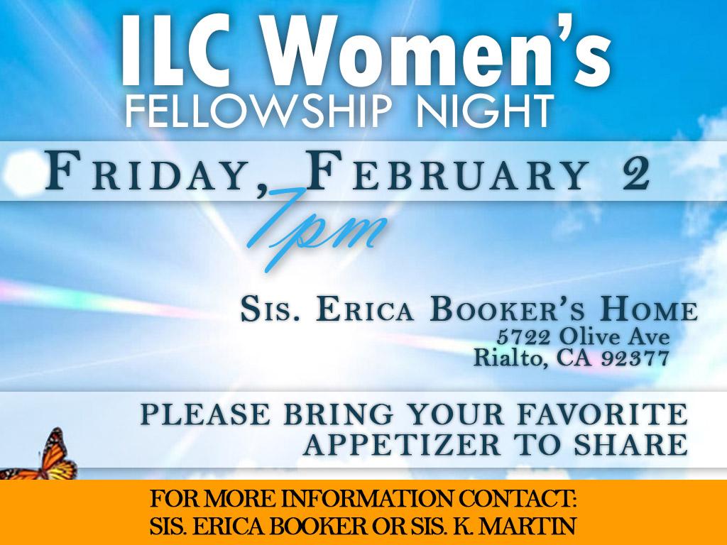 February 2 | Ladies Fellowship