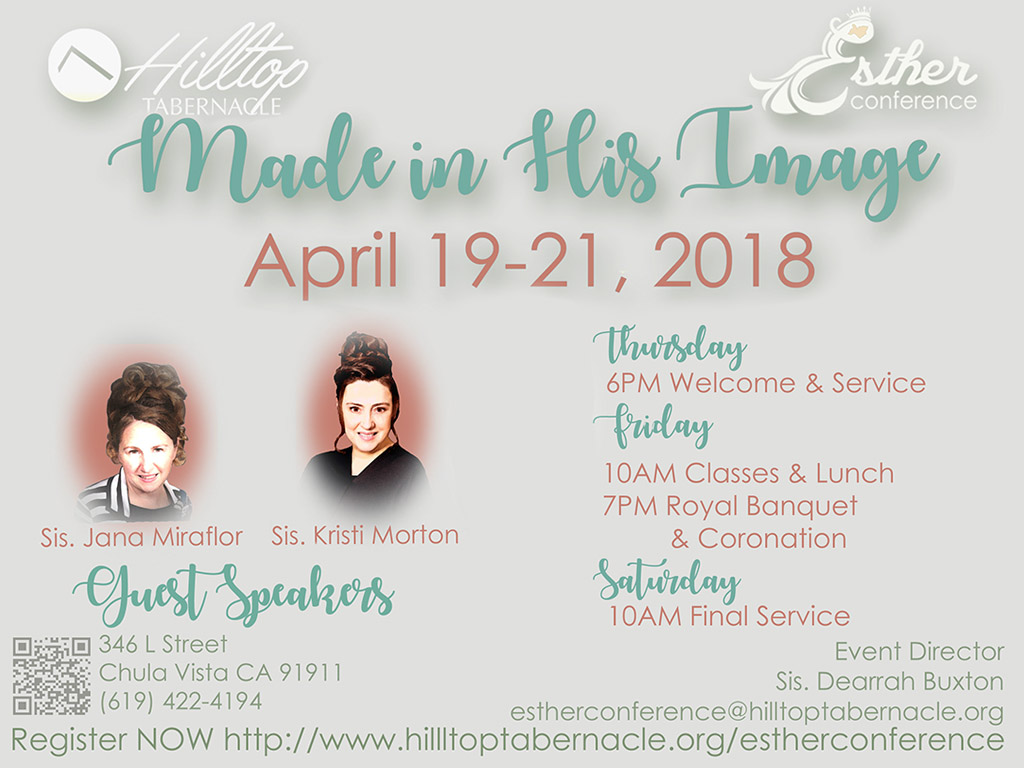 Esther Conference – April 19-21, 2018