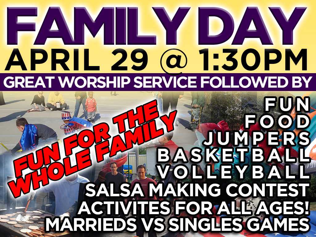 Family Day | April 29, 2018 – 1:30pm