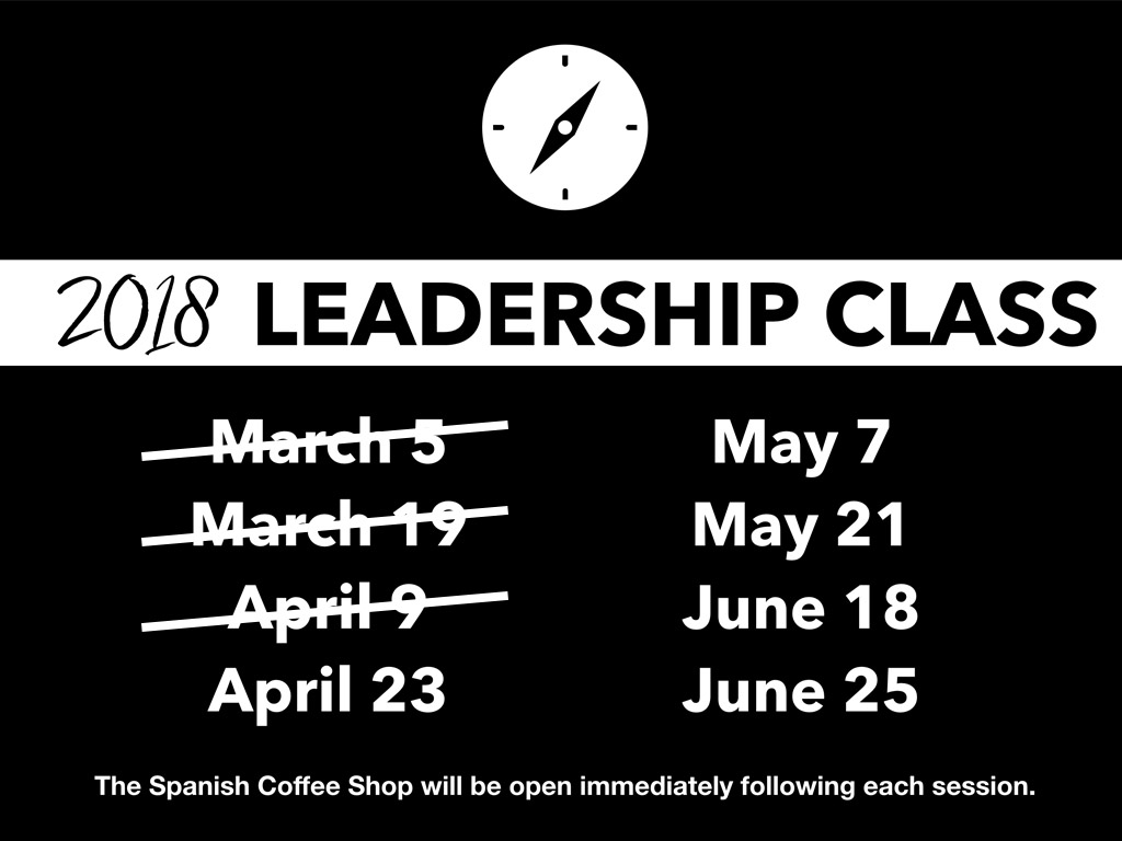 Leadership Classes | April 23, 2018