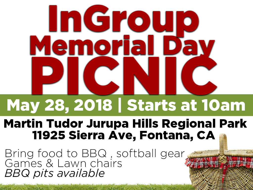 InGroup Memorial Picnic | May 28, 2018