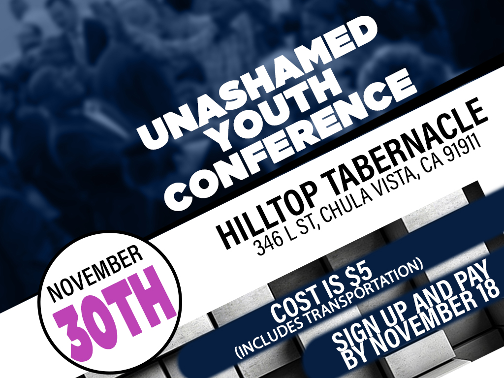 Unashamed Youth Conference | November 30, 2018