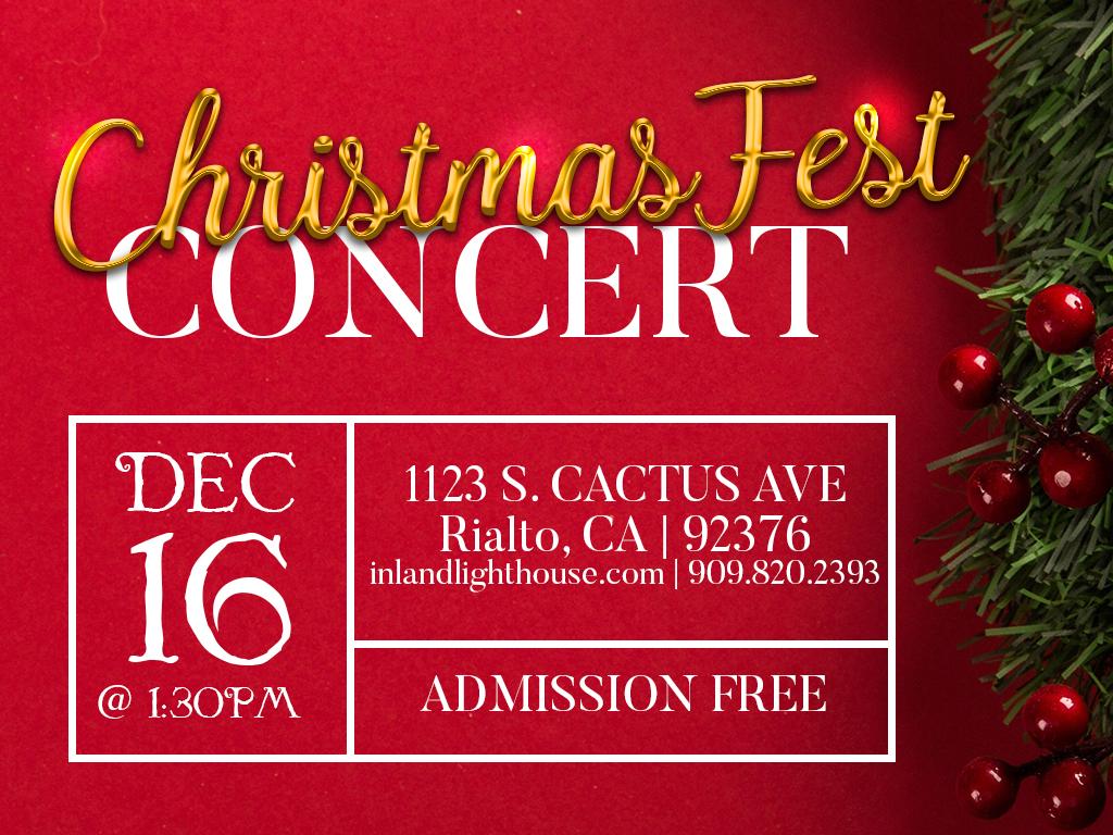 ChristmasFest Concert | December 16, 2018
