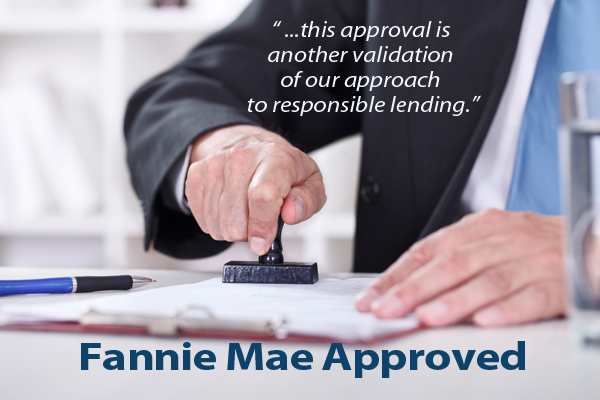 Fannie Mae Approved