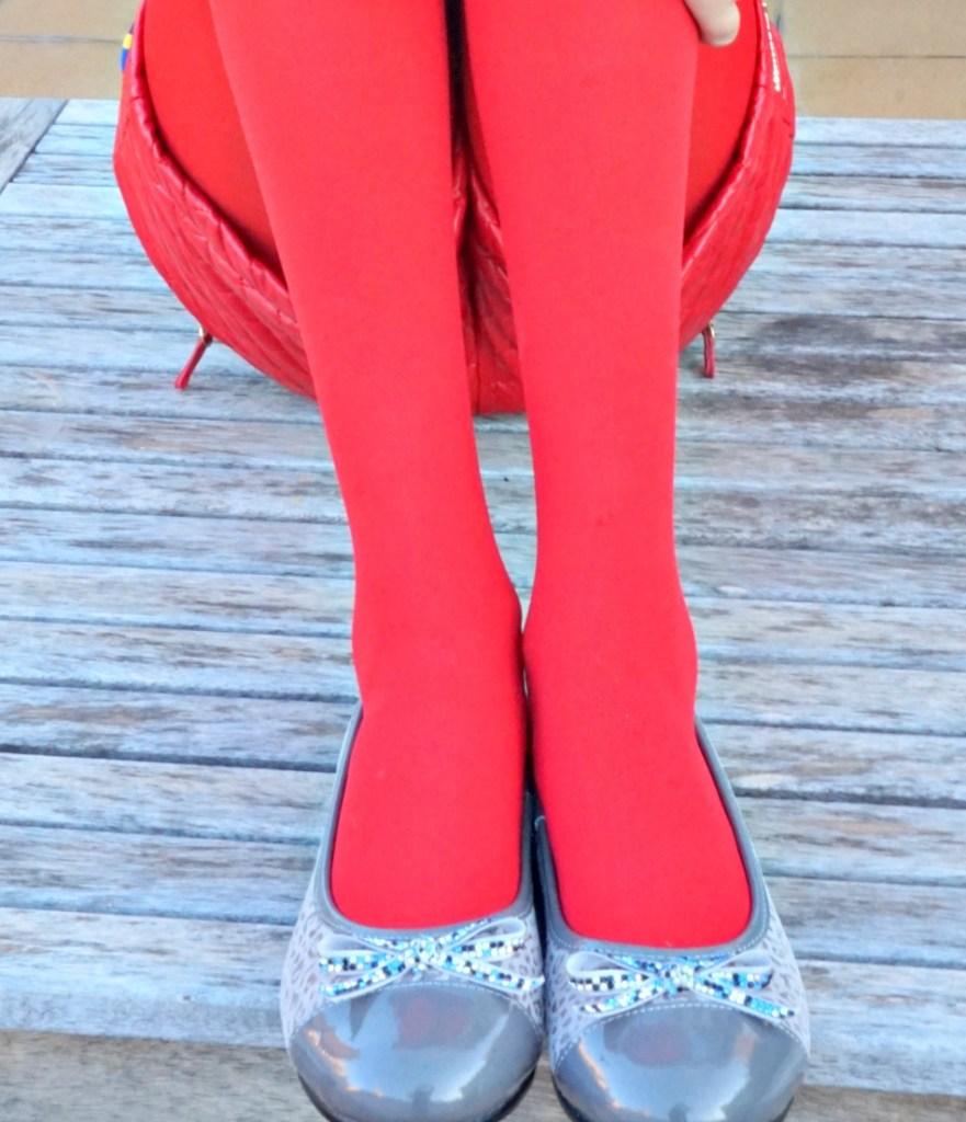 Zapatos Lea lelo combinados en rojo