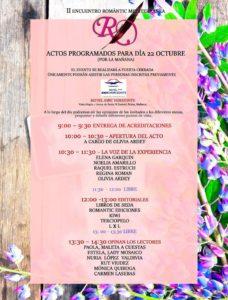 Programa Encuentro Romantic Mediterranea II