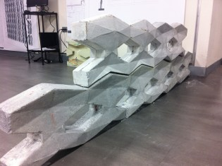 Final Recycled Rubber mold in horizontal disposition