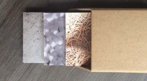Making paper: biodegradable business cards
