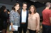 Cristina Villalón, Arq. Ricardo Álvarez Díaz y Noris Rivera
