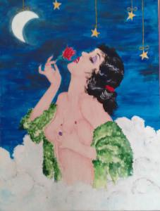 Loredana Giannuzzi - Blue Moon - acrilico su tela - cm 60x80