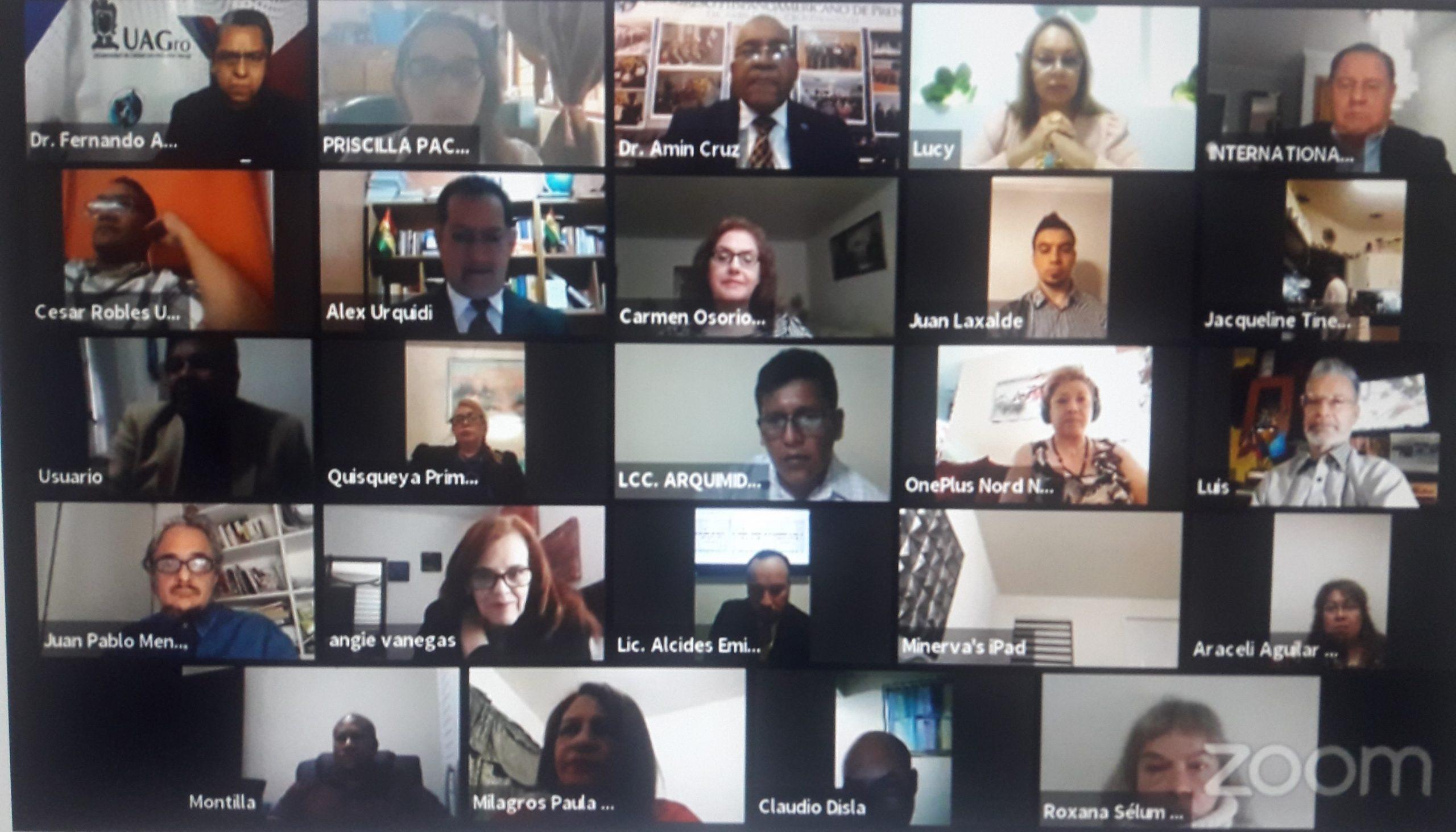 Foto virtual del XXIII Aniversario del Congreso Hispanoamericano de Prensa
