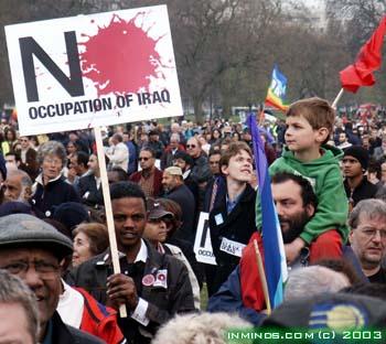 Peace demonstration in London, 2003